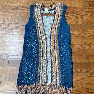 LNWOT crochet vest